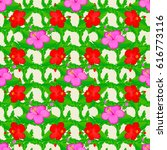 seamless floral pattern with... | Shutterstock . vector #616773116
