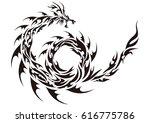 tribal dragon | Shutterstock .eps vector #616775786
