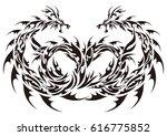 tribal dragon   Shutterstock .eps vector #616775852