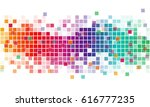 abstract background with color... | Shutterstock .eps vector #616777235