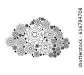 silhouette pinions and gears... | Shutterstock .eps vector #616784708