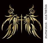 tribal wing | Shutterstock .eps vector #616788566