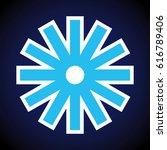raster illustration. snowflake... | Shutterstock . vector #616789406