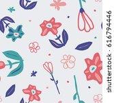 lovely summer pattern  ... | Shutterstock .eps vector #616794446