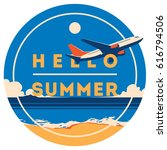 summer holiday and summer camp... | Shutterstock .eps vector #616794506