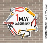 1 may labour day poster or... | Shutterstock .eps vector #616797362