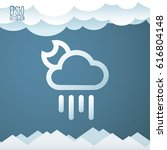weather icon. flat style for... | Shutterstock .eps vector #616804148