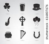 ireland   collection of irish... | Shutterstock .eps vector #616807676