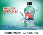 mouth rinse bottle isolated on... | Shutterstock .eps vector #616808756