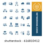 networking icon set design... | Shutterstock .eps vector #616810412