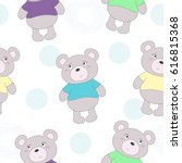 cute seamless pattern with... | Shutterstock .eps vector #616815368