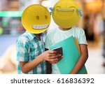 digital composite of friends... | Shutterstock . vector #616836392