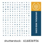 universal website icon set... | Shutterstock .eps vector #616836956