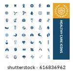 health care icon set clean... | Shutterstock .eps vector #616836962