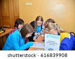children on vacation children's ... | Shutterstock . vector #616839908
