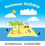 summer holiday | Shutterstock .eps vector #616842482