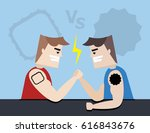 illustration vector angry two... | Shutterstock .eps vector #616843676