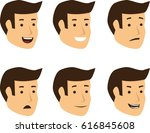 expression set of young male... | Shutterstock .eps vector #616845608