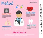 colorful medical and healthcare ... | Shutterstock .eps vector #616850576