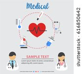 colorful medical and health... | Shutterstock .eps vector #616850642