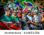 thousands of people march to... | Shutterstock . vector #616851206