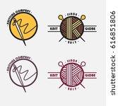knitting company logo | Shutterstock .eps vector #616851806