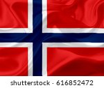 Waving Norway Flag  With A...