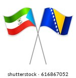 equatorial guinean and bosnian... | Shutterstock .eps vector #616867052