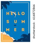 summer holiday and summer camp... | Shutterstock .eps vector #616872866