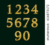 golden numbers encrusted small... | Shutterstock .eps vector #616873172