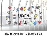 digital composite of digital... | Shutterstock . vector #616891535