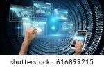 digital composite of digital... | Shutterstock . vector #616899215