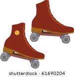 the roller skates | Shutterstock .eps vector #61690204