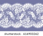 seamless white vector lace... | Shutterstock .eps vector #616903262