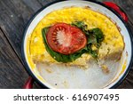 Baked Omelet With Cheese ...