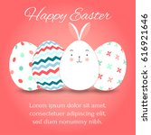 easter eggs set collection and... | Shutterstock .eps vector #616921646