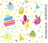 festive seamless pattern raster ... | Shutterstock . vector #616922912