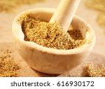 lemon pepper seasoning in... | Shutterstock . vector #616930172