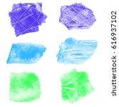 vector set of textured paint... | Shutterstock .eps vector #616937102