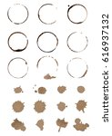vector set of cofee ring stains.... | Shutterstock .eps vector #616937132