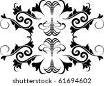 vector floral design elements | Shutterstock .eps vector #61694602
