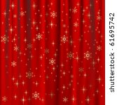 christmas background with red... | Shutterstock .eps vector #61695742