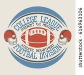 american football vintage... | Shutterstock .eps vector #616963106