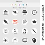 university vector icons for... | Shutterstock .eps vector #616968035