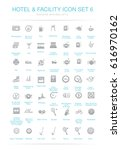 hotel and facilities icon set 6 | Shutterstock .eps vector #616970162