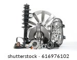 accessories for cars. car parts ... | Shutterstock . vector #616976102