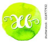 hand drawn vector lettering in... | Shutterstock .eps vector #616977932