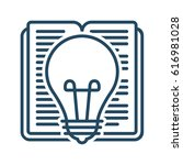 book and light bulb vector icon ... | Shutterstock .eps vector #616981028