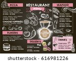 restaurant cafe menu | Shutterstock .eps vector #616981226