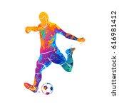 ball  soccer  player | Shutterstock . vector #616981412